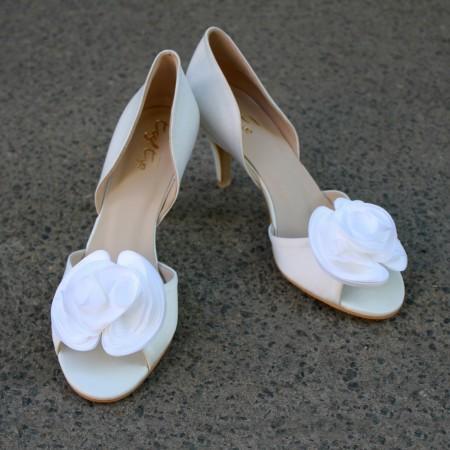 """Атласные туфли """"Свадебный букет"""""""