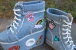"""Джинсовые ботинки при укорочении одной ноги """"Вольная птица"""""""