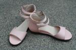 """Босоножки при небольшом укорочении ноги """"Розовый фламинго"""""""